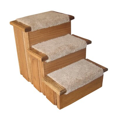 Raised Panel 3 Step Pet Stair Finish: Early American