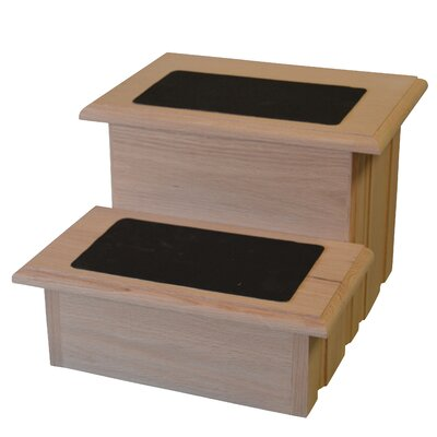 Raised Panel 2 Step Stool Pet Stair
