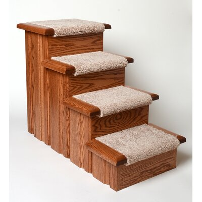 Raised Panel 4 Step Pet Stair Finish: Early American