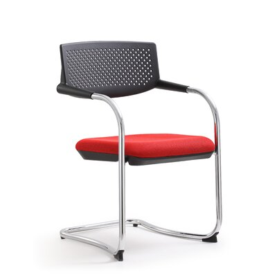 Shankar Mid Back Guest Chair (Set of 2) Color: Red