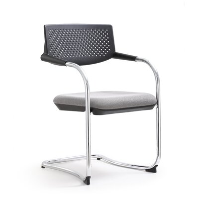 Shankar Mid Back Guest Chair (Set of 2) Color: Gray