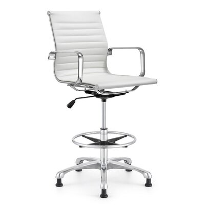 Joplin Drafting Chair Upholstery: White LF248BST WH