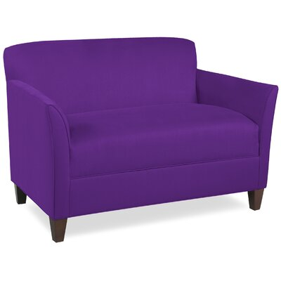 City Spaces Broadway Loveseat Upholstery: Eggplant