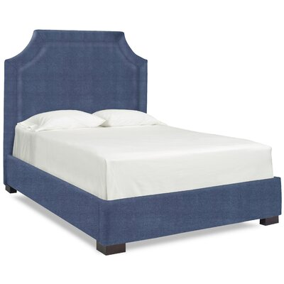 Dreamtime Upholstered Panel Bed Upholstery: Navy, Size: Queen