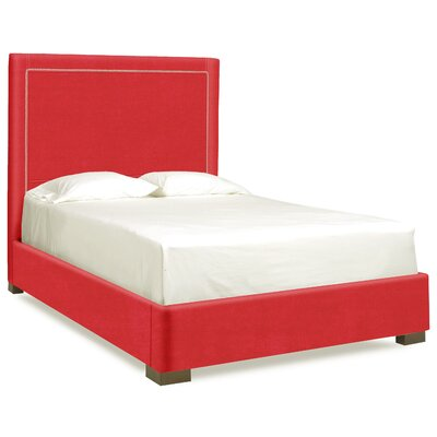 Dreamtime Upholstered Panel Bed Upholstery: Scarlet, Size: Queen