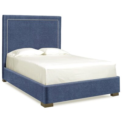 Dreamtime Upholstered Panel Bed Size: Full, Upholstery: Navy