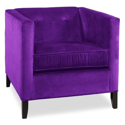 City Spaces Park Avenue Armchair Upholstery: Eggplant