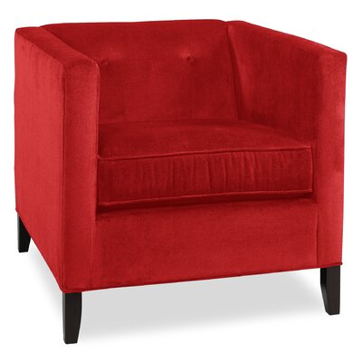City Spaces Park Avenue Armchair Upholstery: Scarlet