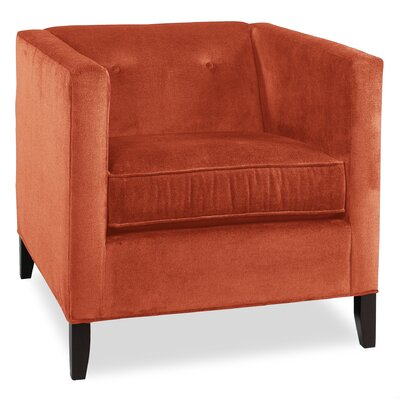 City Spaces Park Avenue Armchair Upholstery: Tangelo