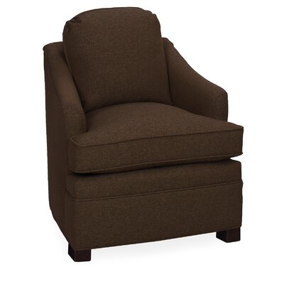 Quinn Lounge Chair Color: Chocolate