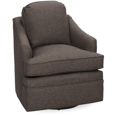 Quinn Swivel Glider Lounge Chair Color: Truffle