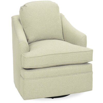 Quinn Swivel Armchair Upholstery: Cream