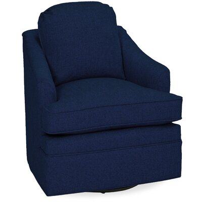 Quinn Swivel Lounge Chair Color: Navy
