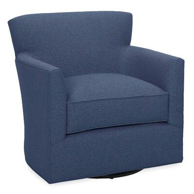 Rowan Swivel Glider Lounge Chair Color: Navy