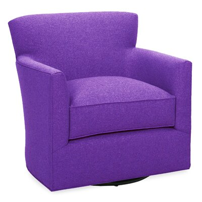 Rowan Swivel Lounge Chair Color: Eggplant