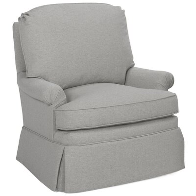 Luca Swivel Glider Armchair Color: Pewter