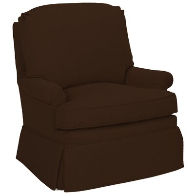 Luca Glider Swivel Armchair Upholstery: Chocolate