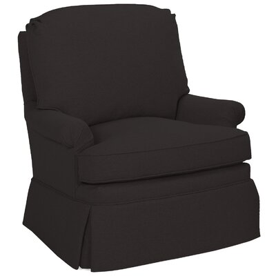 Luca Swivel Glider Arm Chair Color: Dark Ash