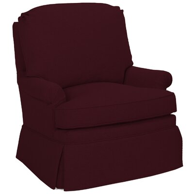 Luca Swivel Glider Armchair Color: Merlot