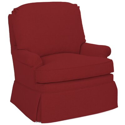 Luca Swivel Glider Arm Chair Color: Cherry