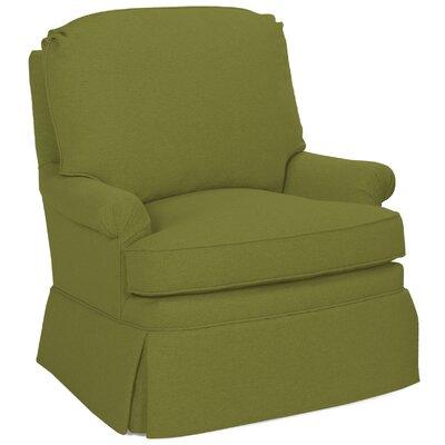Luca Glider Swivel Armchair Upholstery: Grass