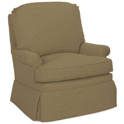 Luca Swivel Glider Armchair Color: Stone