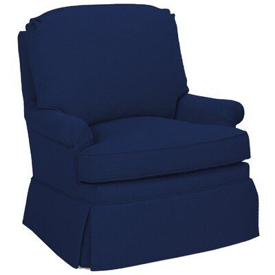 Luca Swivel Glider Armchair Color: Navy