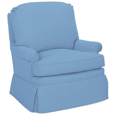 Luca Swivel Glider Arm Chair Color: Sky