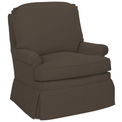 Luca Swivel Glider Arm Chair Color: Truffle