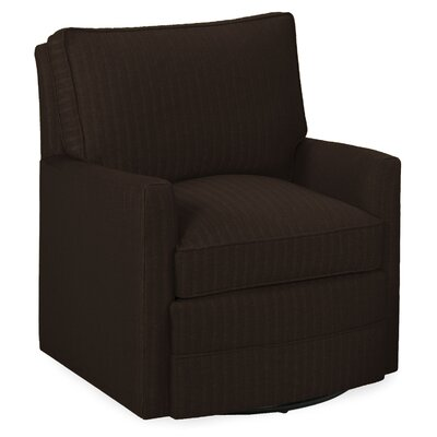Sawyer Swivel Armchair Upholstery: Chocolate
