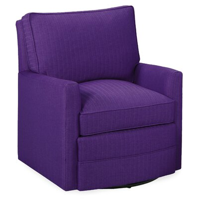 Sawyer Swivel Glider Armchair Color: Eggplant