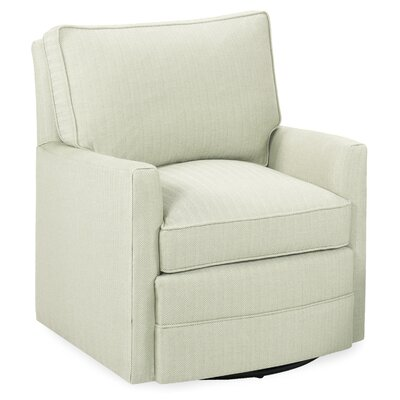 Sawyerl Glider Swivel Armchair Upholstery: Cream
