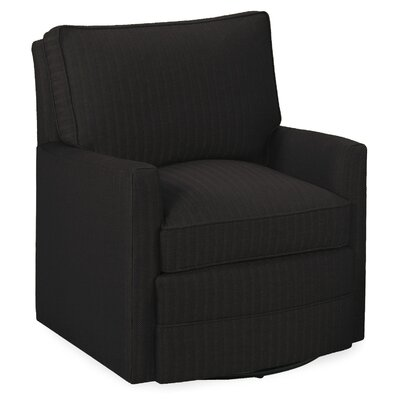 Sawyerl Glider Swivel Armchair Upholstery: Dark Ash