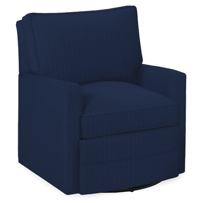 Sawyer Swivel Glider Arm Chair Color: Navy