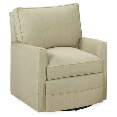 Sawyer Swivel Glider Armchair Color: Beige