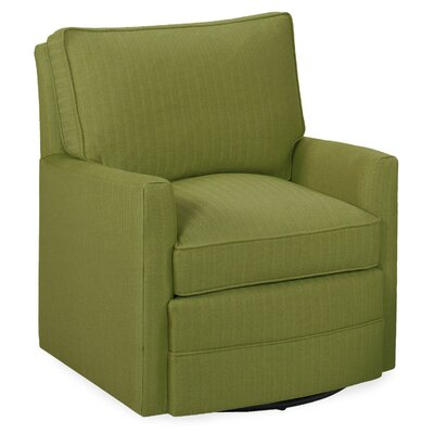 Sawyer Swivel Glider Arm Chair Color: Grass