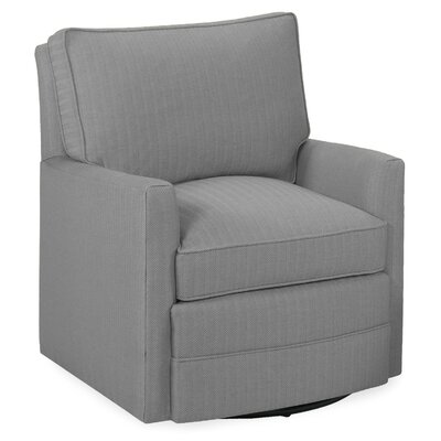 Sawyer Swivel Glider Armchair Color: Pewter