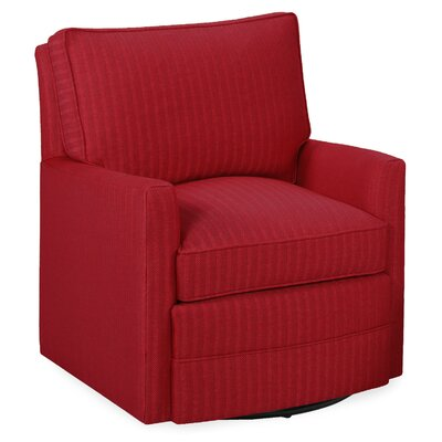 Sawyer Swivel Glider Arm Chair Color: Scarlet