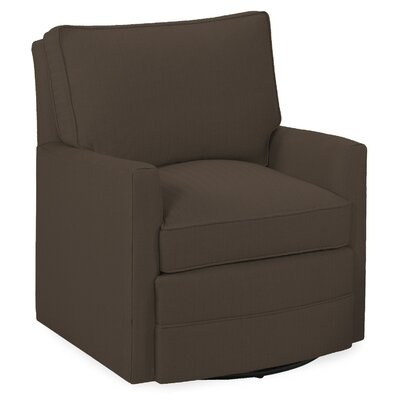 Sawyer Swivel Glider Armchair Color: Truffle
