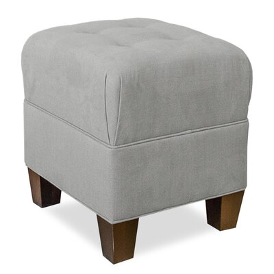 Mondo Upholstered Square 4-Button Ottoman Upholstery: Pewter