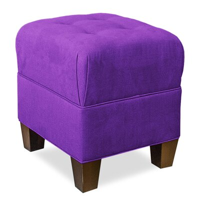 Mondo Upholstered Square 4-Button Ottoman Upholstery: Eggplant