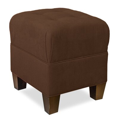 Mondo Upholstered Square 4-Button Ottoman Upholstery: Chocolate
