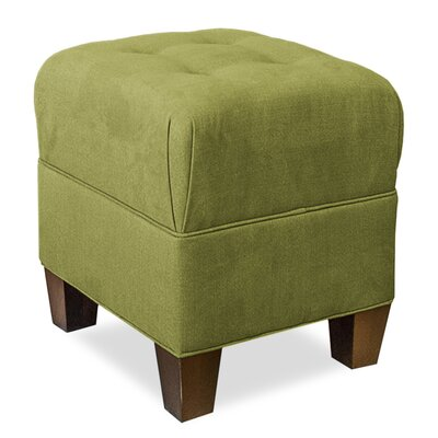 Mondo Upholstered Square 4-Button Ottoman Upholstery: Grass