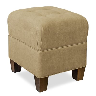 Mondo 18 Upholstered Square 4-Button Ottoman Upholstery: Stone