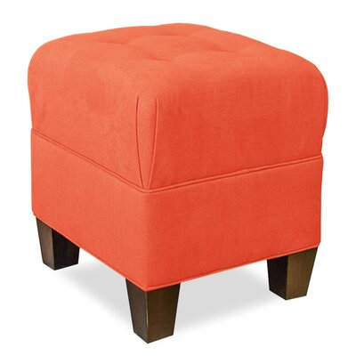 Mondo Upholstered Square 4-Button Ottoman Upholstery: Tangelo