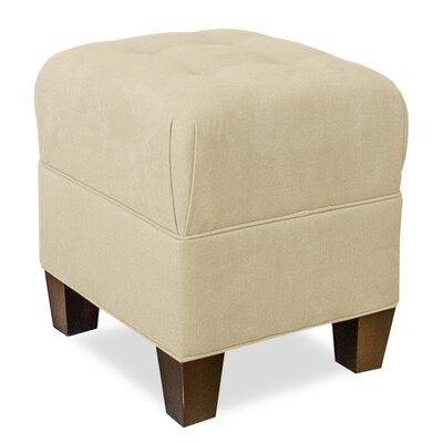 Mondo Upholstered Square 4-Button Ottoman Upholstery: Beige