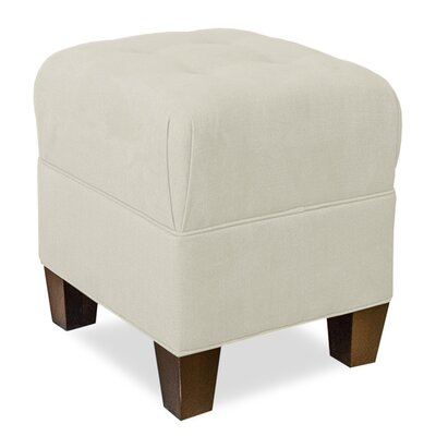 Mondo Upholstered Square 4-Button Ottoman Upholstery: Cream
