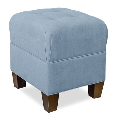 Mondo Upholstered Square 4-Button Ottoman Upholstery: Sky