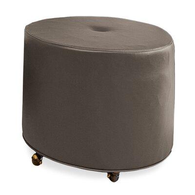 Mondo Upholstered Round 1-Button Ottoman Upholstery: Truffle