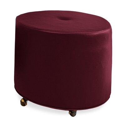Mondo Upholstered Round 1-Button Ottoman Upholstery: Merlot